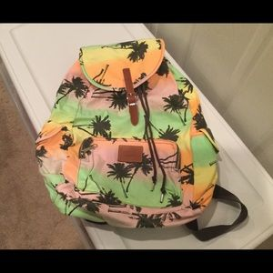 Pink Palm Tree Backpack
